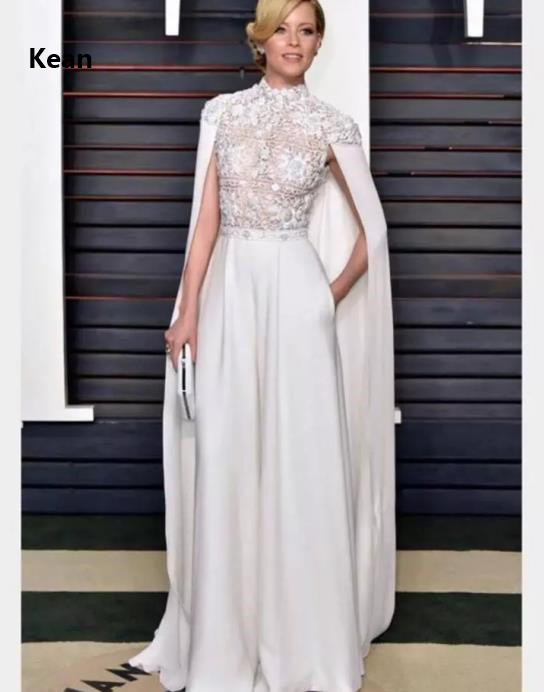 With Jacket Evening Dress Pocket Applique Bead Illusion Vestido Islamic Dubai Kaftan Saudi Arabic Evening Gown Prom Dress Plus