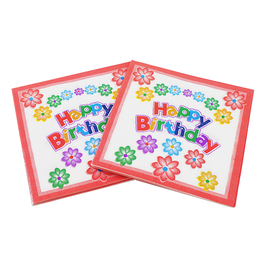 [Currently Available] Color Printed Napkin Birthday Party Paper