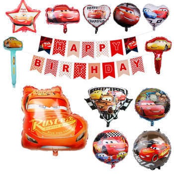 Disney Cars Lightning McQueen Theme Cartoon 18inch Aluminum Film Balloon Cartoon Birthday Party Decorations Baby Shower Supplies image