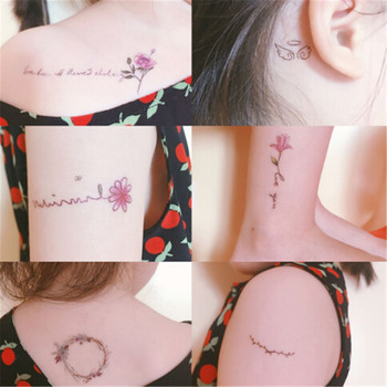 Multi Style Beautiful Water Transfer Tattoos Womens Girls Body Art Makeup Cool 3D Waterproof Temporary Tattoo Stickers image