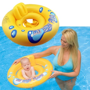 2 in 1 Infant Kids Baby Swimming Seat Swimming Pool Float Ring Inflatable Pool Float Circle for Newborn Activity & Gear