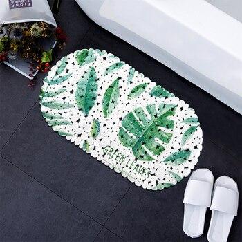 Alfombrillas de baño envío gratis pvc alfombra de ducha para baño antideslizante suelo verde alfombra antideslizante Baño