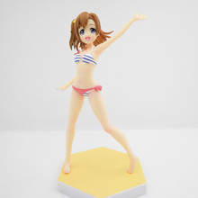 Anime love live Kousaka Honoka Swimsuit Ver PVC Action Figure Collectible Model doll toy 16cm anime date a live tokisaki kurumi school uniform ver 1 8 scale pvc action figure collectible model toy doll 16cm