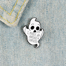 Brooch Ghost Jewelry Pins Metal Badge Lapel Vintage Fashion Retro Cartoon Gifts-Collection