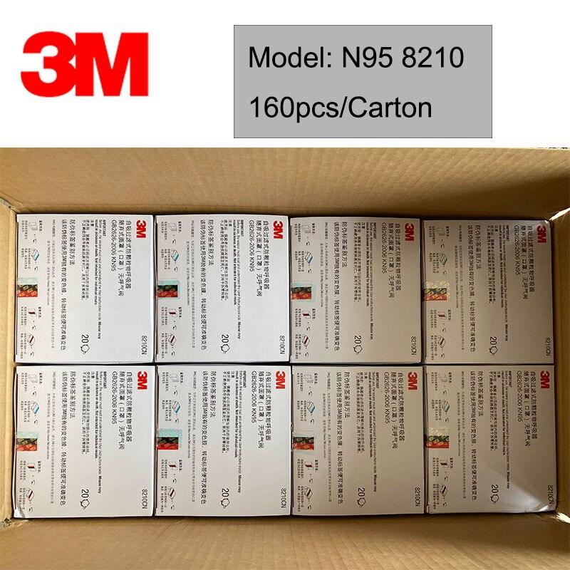 20pcs/box 3M 8210  Safety Protective Mask Dust Masks Anti-particles Anti-pm2.5  Anti Virus Mask