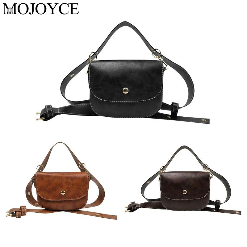 Women PU Leather Belt Bags Phone Pouch Fanny Packs Waist Chest Handbags