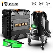 DEKO DKLL501 5 линий 6 точек лазерный уровень зеленые лазерные линии многоцелевой перекрестный наружный режим наклона можно использовать с детектором