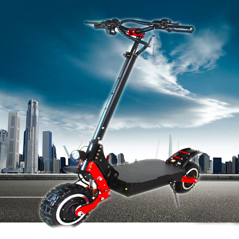 2019 fashion best outdoor 4000W 11 inch foldable <font><b>electric</b></font> <font><b>scooter</b></font> <font><b>electric</b></font> road <font><b>scooter</b></font> image