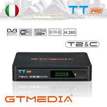 Gtmedia Tt Pro Dvb-t/T2/Kabel Satellietontvanger Tv Box 1080P Tuner Wifi Gratis Digitale Receptor Volledige speed Usb 3G Dongle Decoder