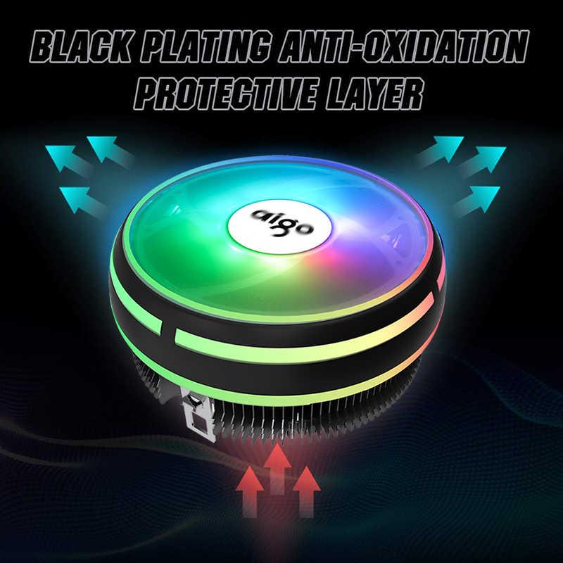Dark flash Aigo وحدة المعالجة المركزية التبريد LED 120 مللي متر وحدة المعالجة المركزية برودة PWM مروحة الكمبيوتر LED وحدة المعالجة المركزية برودة المبرد LGA 1151/AM3/AM4 12 فولت الكمبيوتر مراوح التبريد