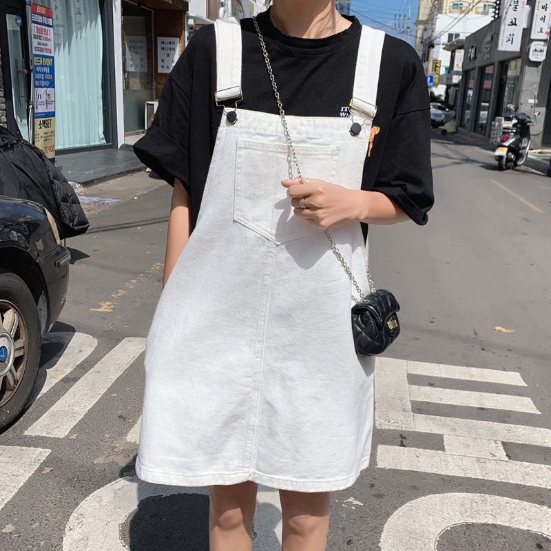 Factory Price Direct Selling Fat Mm Summer New Style Large Size WOMEN'S Suspender Skirt Fat Fairy By Age Slimming Students Cowbo