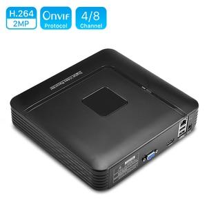 Image 1 - Mini CCTV NVR 4CH 8Ch ل H.264 16CH ل H.265 فيديو مسجل دي في أر Onvif ل كامل كاميرا شبكية عالية الوضوح الأمن نظام المراقبة إنذار