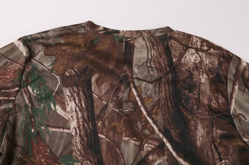 Летние мужские s Пешие прогулки быстросохнущие дышащие бионический камуфляж с коротким рукавом Футболка Открытый тактический тренировка О воротник футболки топы