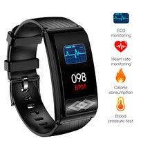 Ecg ppg saúde esportes banda inteligente p10 freqüência cardíaca pressão arterial oxigênio monitoramento do sono bluetooth rastreador de fitness pulseira inteligente