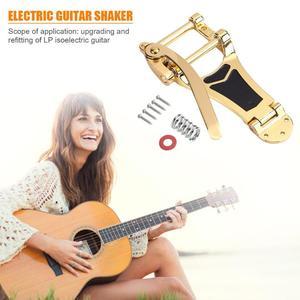 Image 5 - Запасные части для электрогитары Vibrato LP, отличные сплавы, золотой, серебряный и черный, запорный мост, кривошипная планка