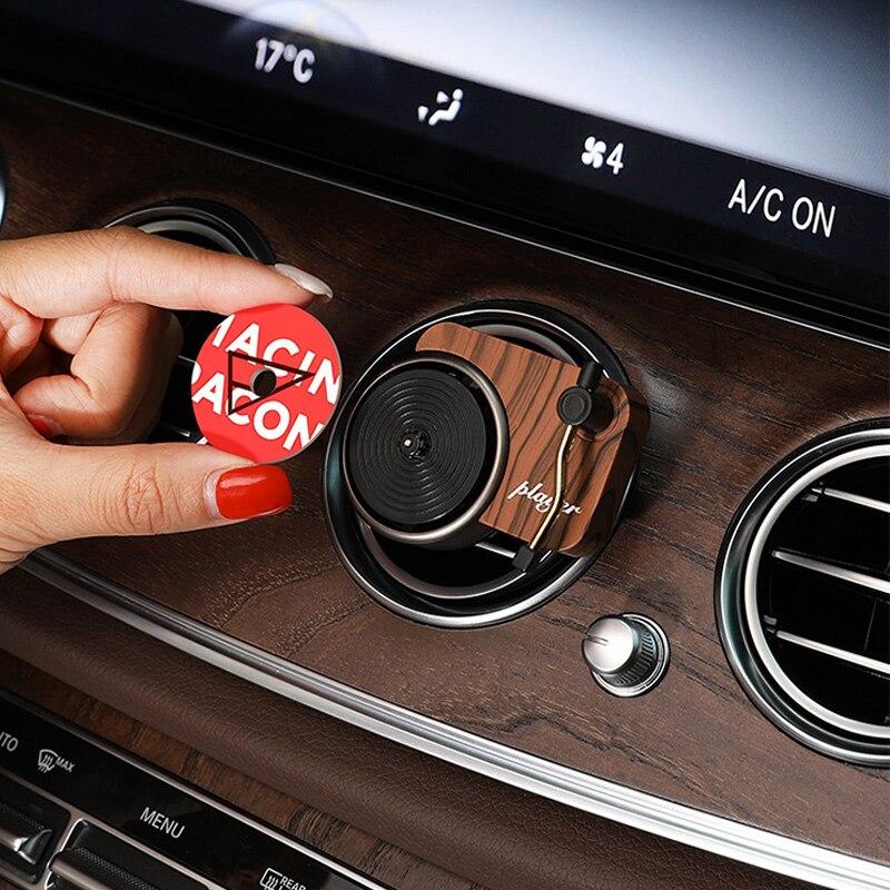 Retro Recorder Car Air Freshener Car Aromatherapy Turntable Air Vent Purfume Aroma Car Perfume Auto Diffuser Decoration