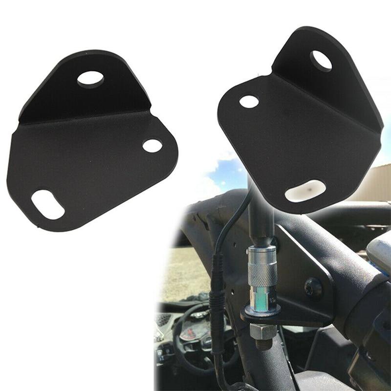 2Pcs Adjustable Rear Pillar Flag Antenna Mounting Brackets For LED Whip Light Fits Can Am Maverick X3 2017-2019