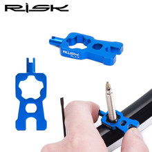 RISK 4 in 1 Bicycle Valve Tools Wrench Schrader/Presta Valve Core Removal Installation Repair Portable Tool For MTB Bike