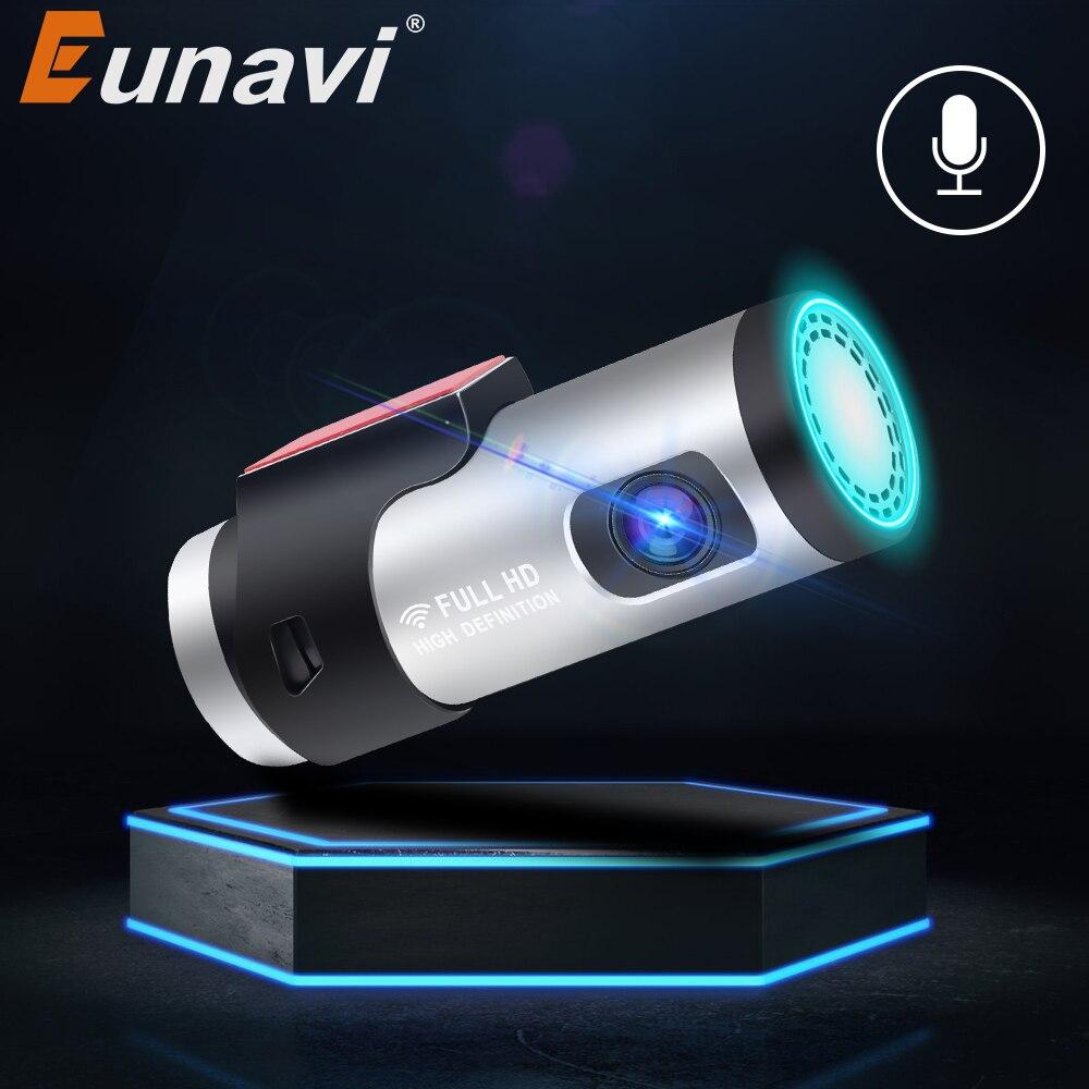 Eunavi-caméra de tableau de bord DVR, caméra de tableau de bord, dashcam, FHD, 1080P, avec Vision nocturne, enregistreur vidéo pour voiture