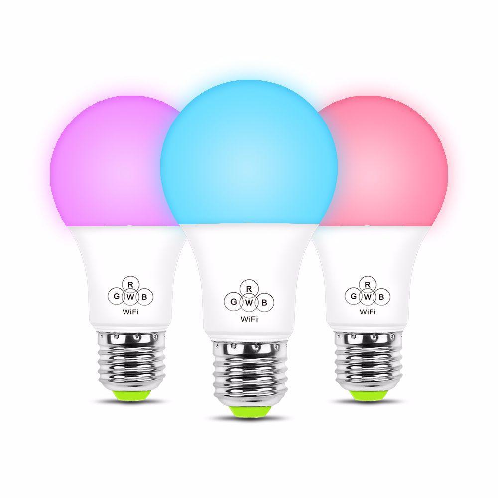 Smart WIFI Light Bulb RGB Remote Control LED Bulb Support  Alexa Voice Control Remote Control