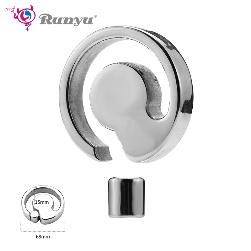 Cock Ring Heavy Duty Male Magnetic Ball Scrotum Stretcher Metal Penis Cock Lock Ring Delay Ejaculation BDSM Sex Toy Men