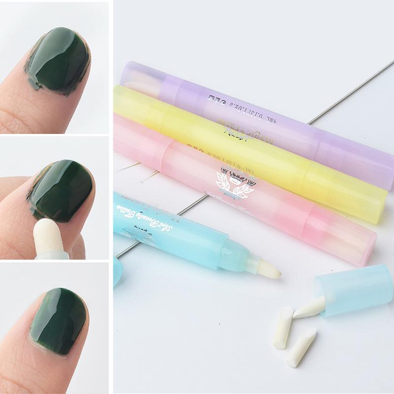 4 Colors Gel Nail Polish Remover With 3 Tips Polish Remove Pen Polish Corrector Pens Cleaning Eraser UV Manicure Tools
