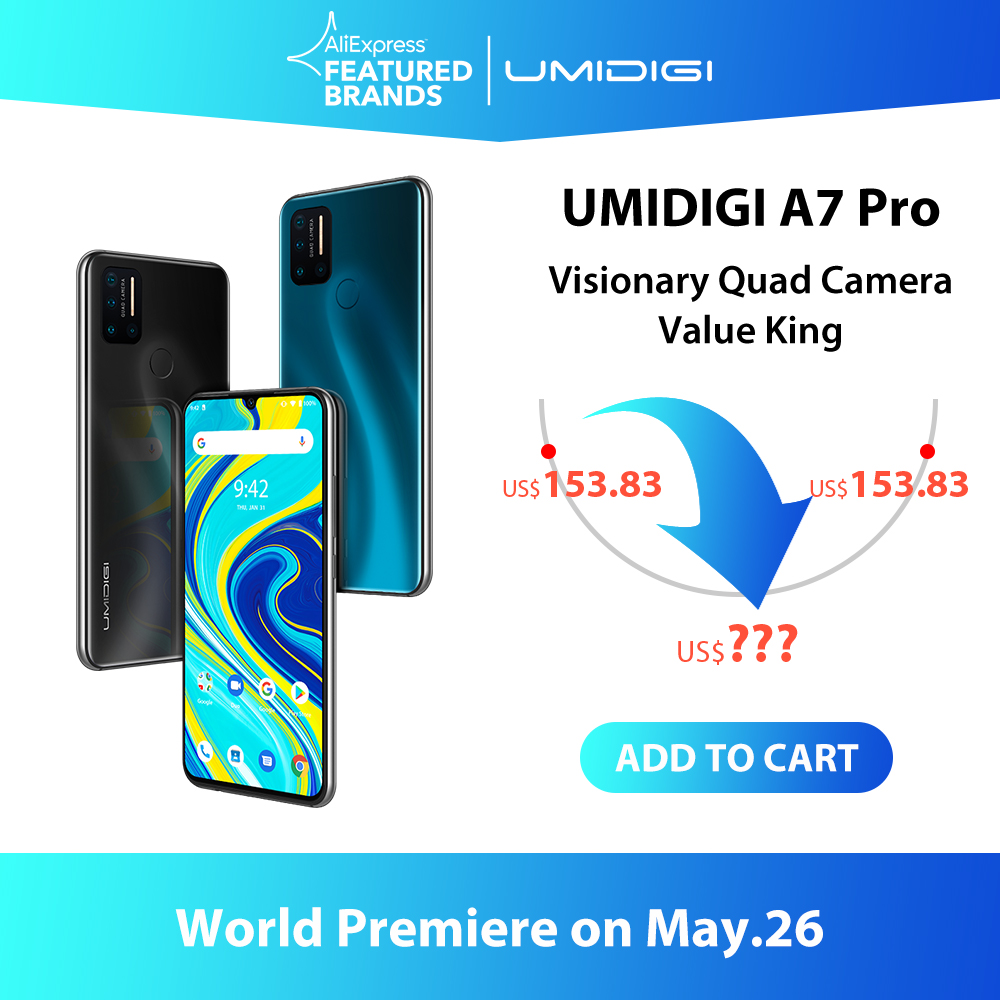 UMIDIGI A7 Pro Quad Camera Andriod 10 OS 6,3