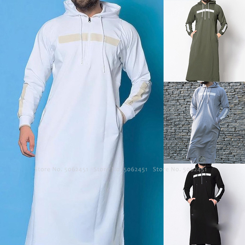 Men Jubba Thobe Islamic Clothing Arab Robes Kaftan Muslim Dress Saudi Arabia Abaya Blouse Kurta Fashion Hoodies Arabic Clothes