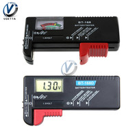 Bt168d digital testador de capacidade da bateria lcd digital/display ponteiro BT-168 checkeraaa aa botão célula universal fonte alimentação medidor