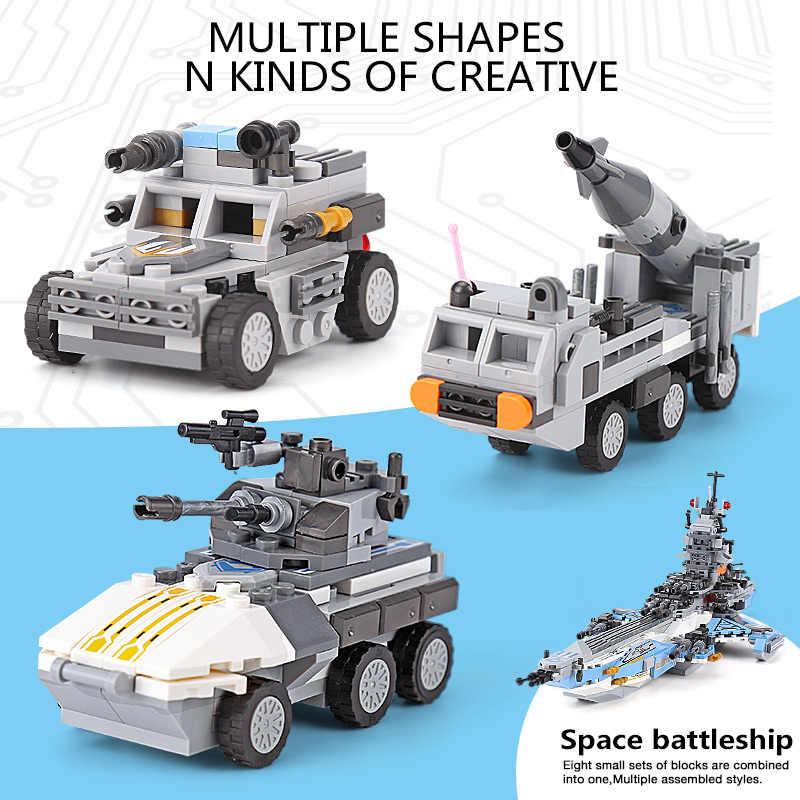 DHL 13001 wojskowe serii 8 w 1 Super wszechświat pancernik zestaw klocki klocki zabawki dla dzieci prezent na Boże Narodzenie