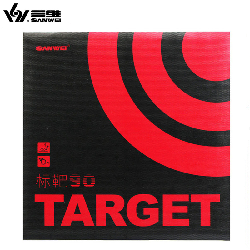 SANWEI TARGET 90 Table Tennis Rubber 90% Sticky With Original SANWEI TARGET Ping Pong Sponge
