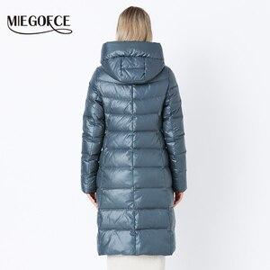 Image 4 - Miegofce 2020 Jas Winter Vrouwen Hooded Warme Parka Bio Pluis Parka Jas Hight Kwaliteit Vrouwelijke Nieuwe Winter Collectie hot
