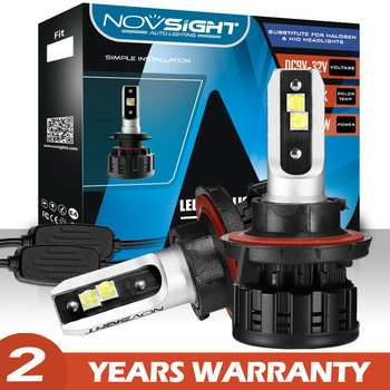 цена на NOVSIGHT LED Car Headlight Bulbs Auto Led Lights H4 H1 H7 H3 H11 H8 H9 H13 9005 9006 9007 HB3 HB4 HB5 60W 18000LM Car Lamp Bulbs