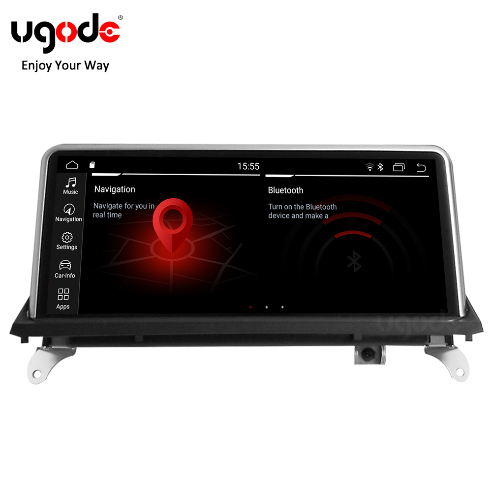 Ugode For <font><b>BMW</b></font> X5 X6 Car Multimedia Player Android 9.0 GPS Navigation <font><b>10.25</b></font> Inches Screen Monitor Bluetooth <font><b>E70</b></font> E71 (2008-2013) image