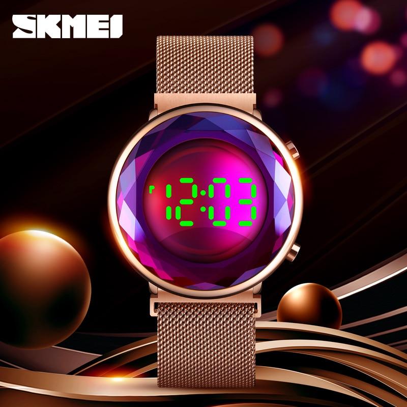 LED Light Display Digital Watch Fashion Women's Watches Luxury Brand SKMEI Wristwatch Ladies Dress Date Watch Waterproof Clock
