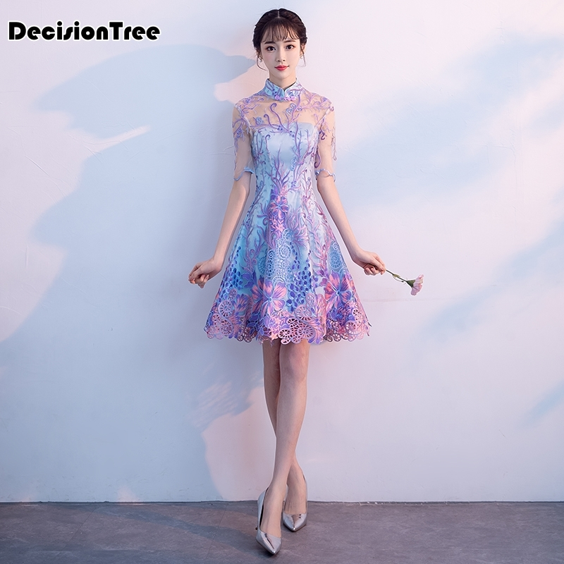 2019 chinese dress satin cheongsam vintage qipao wedding traditional dresses evening gown