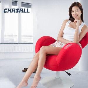 Image 1 - CHASALL Pelvis chaise de Massage corps électrique Portable zéro bruit inclinable Shiatsu soins de santé pied Spa chauffage cou pièces Massage