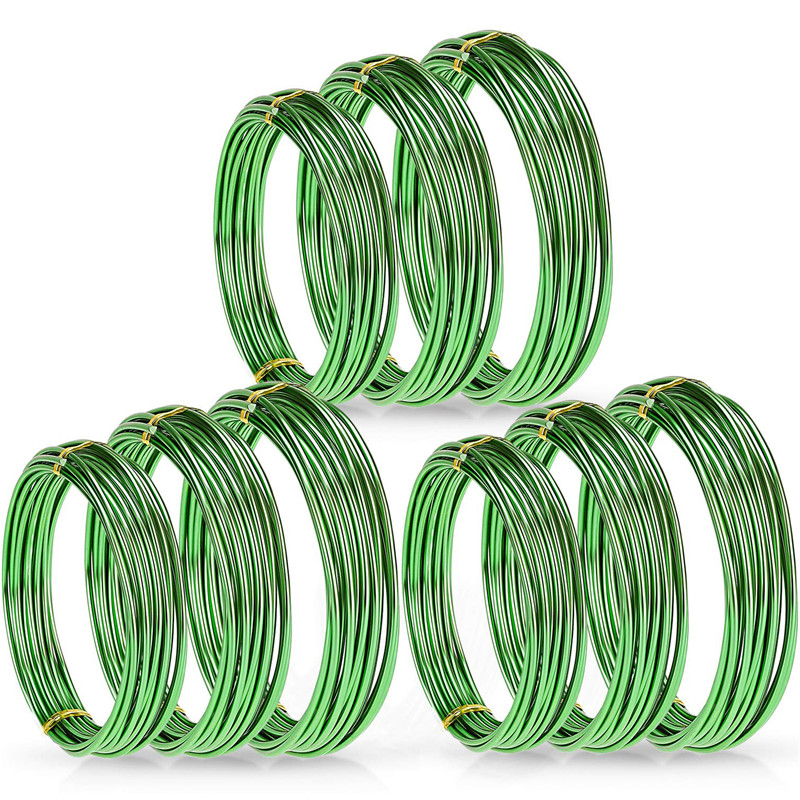 9 Rolls Bonsai Wires Anodized Aluminum Bonsai Training Wire with 3 Sizes easy to bend and very rugged bonsai trainers or artists