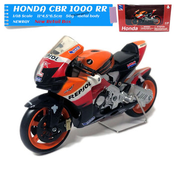 5pcs/lot NEWRAY 1/18 Scale Racing Motorbike HONDA CBR 1000 RR Repsol Diecast Metal Motorcycle Model Toy