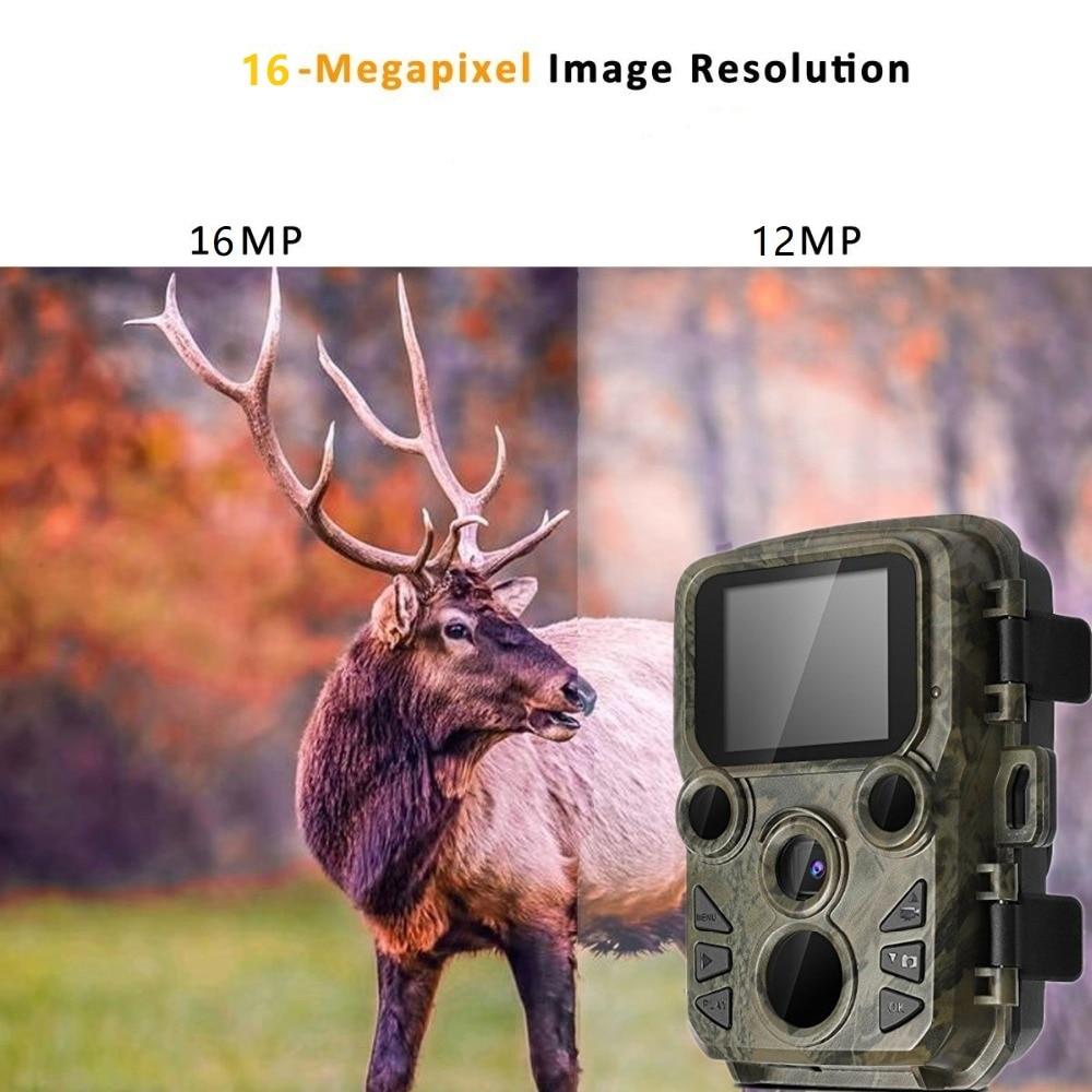 H881998ab6cdc48f19987727b538d4c5fJ - 16MP 1080P Mini Trail Photo-traps IP66 Hunting Camera Game Trail Camera Outdoor Wildlife Scout Guard Wildcamera with PIR Sensor