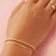 New Fashion Gold Color Twist Rope Chain Bracelet for Women Punk Hip Hop Metal Bracelets Party Wedding Jewelry Gift