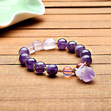 natural purple crystal Bracelet for women fashion classic original stone beads with purple stone pendant Lavender color jewelry natural old pit a cargo ice waxy filled with purple violets bracelet burma stone bracelet with certificat