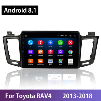 Android 8.1 Quad-Core 10.1 IPS Screen Car Multimedia Video Player For Toyota RAV4 RAV 4 2013-2018 Build-in GPS Navi Microphone image