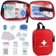 Kit de premiers secours pour survie en plein air, 120 pièces, sac médical de Camping, randonnée, Mini Kit de traitement d'urgence