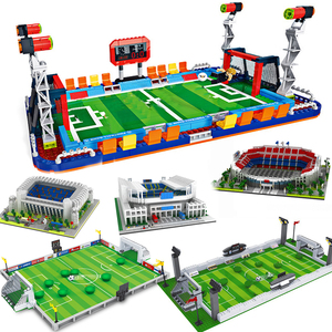 Image 1 - ספורט תואם כדורגל אצטדיון שדה בניין בלוקים לבני העיר סטי עומד כדורגל שער כדורסל משפט בסיס צלחת