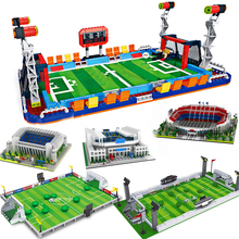 Sports Compatible football stadium field building blocks bricks city sets stands soccer gate basketball court base plate