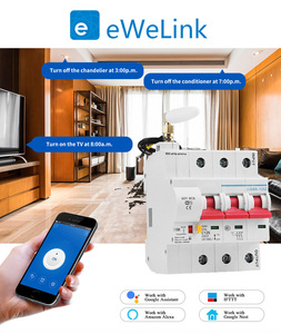 Image 2 - EWeLink 16A الذكية واي فاي قاطع الدائرة حماية ماس كهربائى اليكسا صدى جوجل الرئيسية متوافق التحكم عن بعد واي فاي التبديل