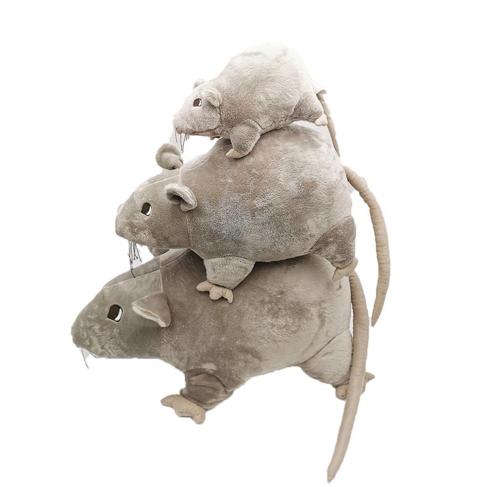 Lovely Soft Plush Simulation Mouse Doll Stuffed Rat Plush Animal Toy Mascot Children's Toys Home Decoration