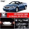 TPKE 9Pcs White LED Interior Light Bulbs Package kit For Chrysler 200 2011-2014 Trunk Map Dome License Plate Light 1