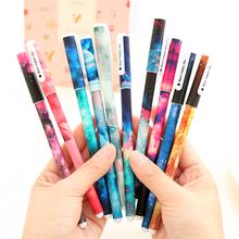 10 sztuk kreatywny gwiazda noc kolor długopis z żelowym wkładem Hot Boligrafos Kawaii długopisy żelowe Boligrafos Kawaii szkolne hurtownie tanie tanio HE DAO CN (pochodzenie) Żel atramentu Biuro i szkoła pen 0 5mm Normalne N854 Z tworzywa sztucznego 15 8 cm